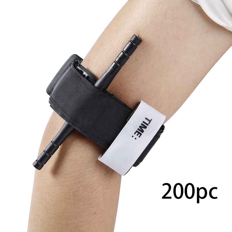 200pc Outdoor Survival Tourniquet Fast Hemostasis Medical Emergency Tactical Military Exploration One-handed Operation