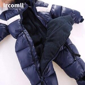 Image 4 - חדש רוסיה חורף תינוקות תינוק ילד הילדה Romper לעבות תינוק חליפת שלג Windproof חם סרבל לילדים בגדים לפעוטות תלבושת