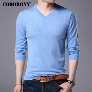 Image 5 - COODRONY Cashmere Sweater Men Brand Clothing 2017 Autumn Winter Thick Warm Wool Sweaters Solid Color V Neck Pullover Shirts 7153