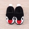 Новые зимние детские тапочки скользит теплые мягкие детские бытовые обувь мультфильм утолщаются плюшевые хлопка обувь для мальчиков девочек