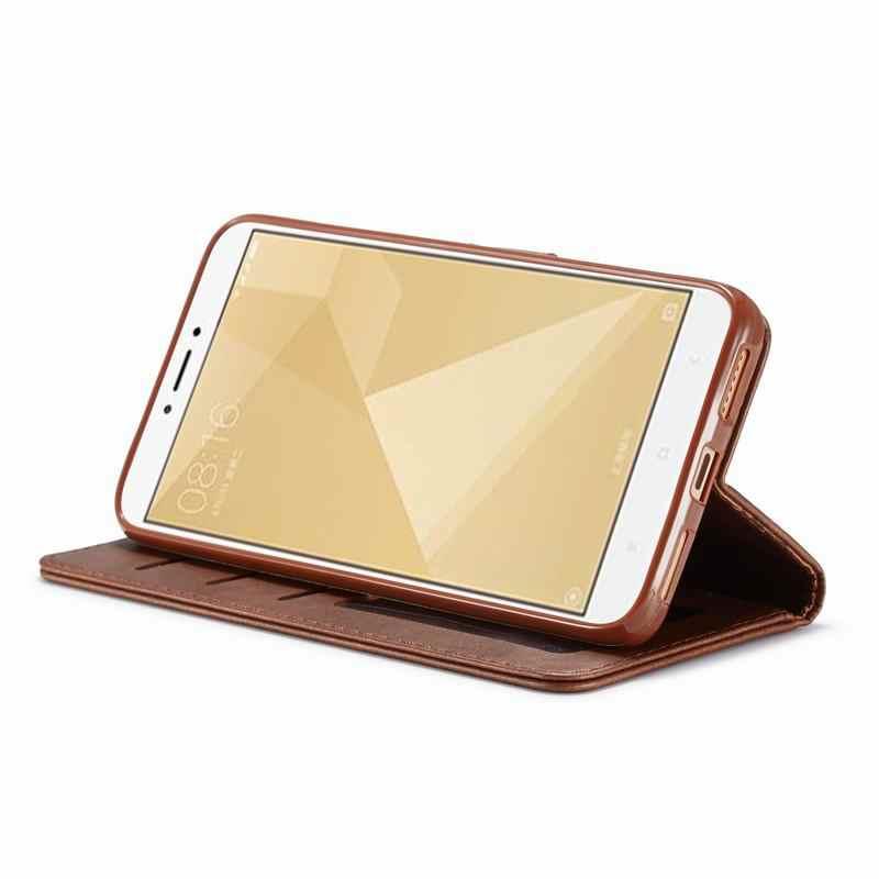 Роскошные простые флип-Чехлы для Xiaomi Redmi Note 4 4X X Магнитные мешки кожаные для телефона для Xiaomi Redmi Note 4 Note4x бумажник чехол