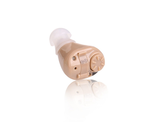 New Rechargeable Digital Mini In Ear Hearing Aid S-218 Analog ITC Adjustable Sound Amplifier BOX Acouophone
