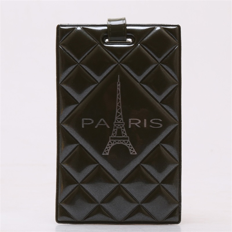 2018 New Design PVC Ling Plaid 16 Colors Paris Eiffel Tower Travel Accessories Luggage Tags  Name Label Durable Sturdy