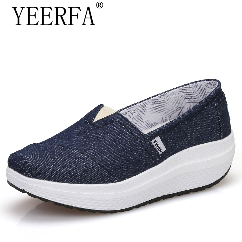 2018 New Arrival Popular Canvas Women Casual Female Breathable Height Increasing Fashion Swing Shoes Shake Tenis Feminino fashion embroidery flat platform shoes women casual shoes female soft breathable walking cute students canvas shoes tufli tenis