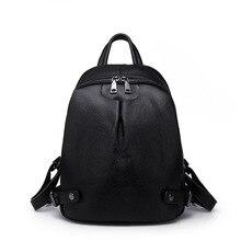 Genuine leather backpack women luxury brand Fashion Chic Simple Belt buckle Litchi Soft Calfskin womens Travel bag