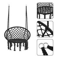 Round Hammock Chair Outdoor Indoor Dormitory Bedroom Yard For Child Adult Swinging Hanging Single Safety Chair Hammock herramientas para el aseo de la casa