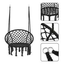 Round Hammock Chair Outdoor Indoor Dormitory Bedroom Yard For Child Adult Swinging Hanging Single Safety Chair Hammock(China)
