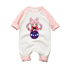 Baby Rompers Sailor Moon Cartoon Style Cotton Long Sleeve