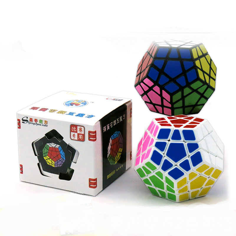 Shengshou 65mm plástico jogo de quebra-cabeça megaminx velocidade cubo mágico brinquedos educativos para crianças