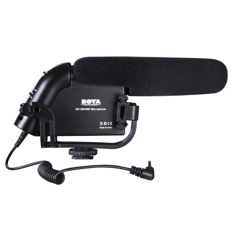 Stereo Video Microphone DSLR Camera DV Audio Recorder Shotgun for Canon Nikon DSLR Cameras Camcorder Microphone BOYA BY-VM190P