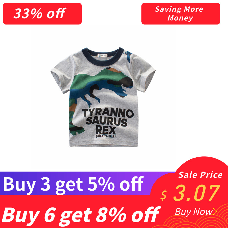 Purchase three get 5% off Summer season Dinosaur Youngsters Boy Lady Shirts Cotton Child Youngsters Clothes for Child Shirts Summer season 2019 Tops Tee Garments boys t shirt, boy...