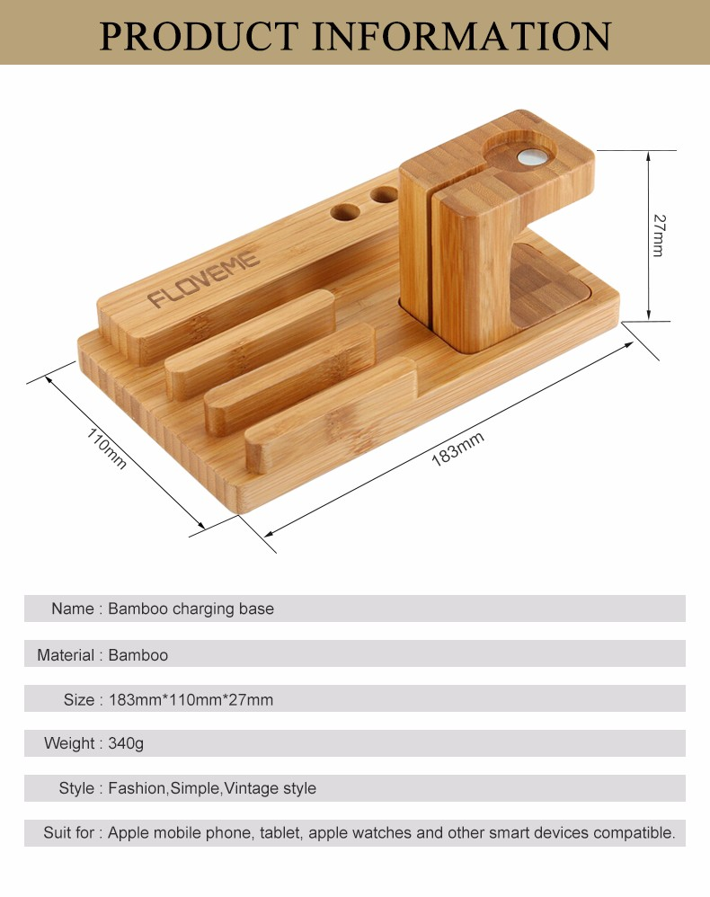 For iPhone Apple iWatch Wood Charge Holder (2)
