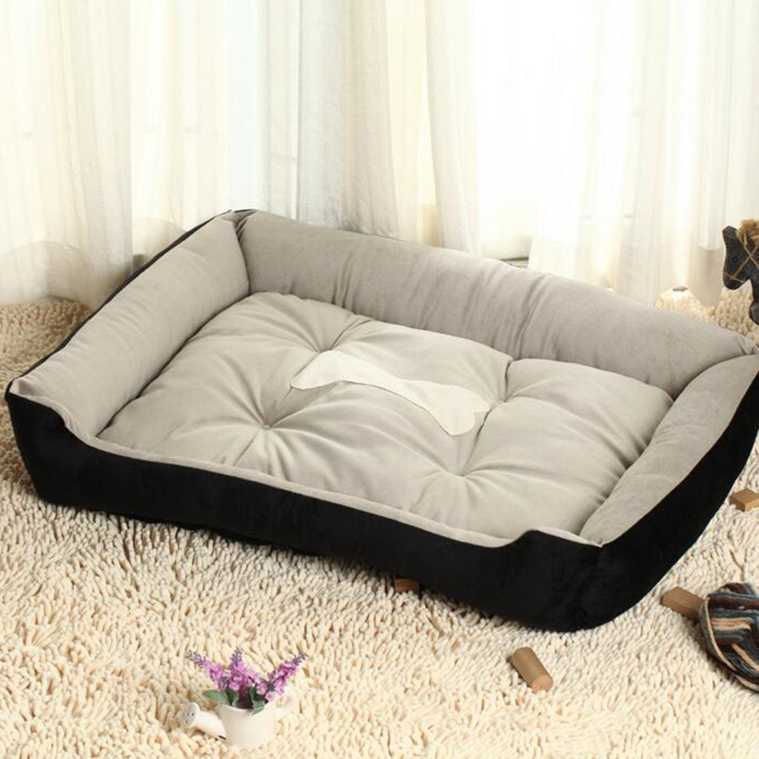 Soft Sofa Dog Bed Narrow Depth Small Beds Warm Lounger For Large Golden