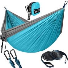 Portable Hammock Double Person Nylon Camping Hammock Survival Garden Hanging Sleeping Chair Travel Furniture Parachute Hammocks стоимость