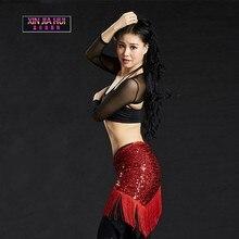 Sederhana Ikan Skala Gaya Sequins Hip Scarf Belly Tarian pakaian untuk dijual Wanita Belly Belly Dance Practicing Set