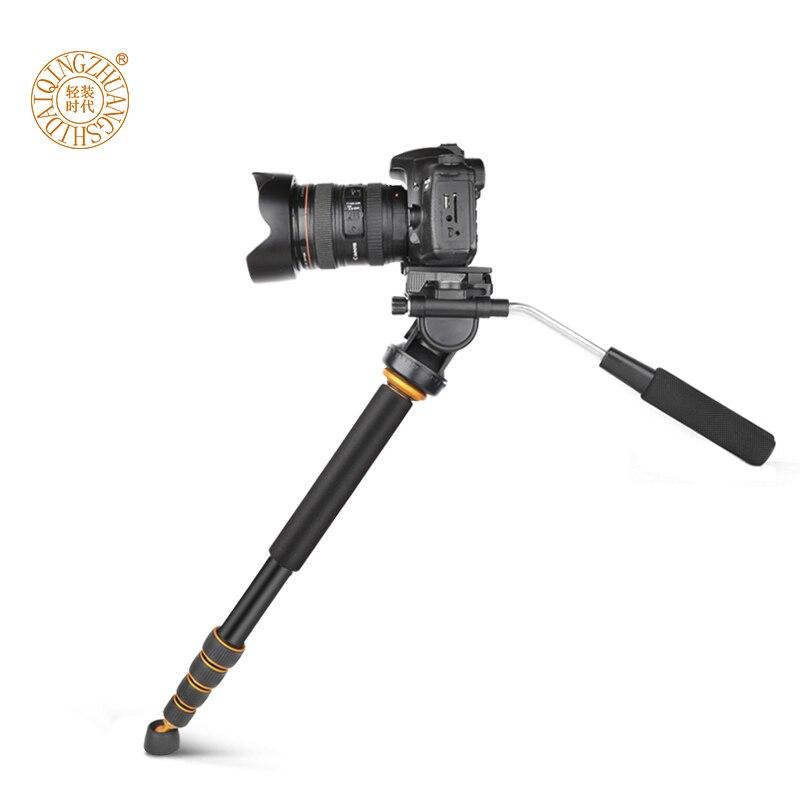 Q188 trépied monopode professionnel Portable monopode de voyage monopode vidéo avec tête fluide pour Canon Nikon Sony DSLR caméra vidéo