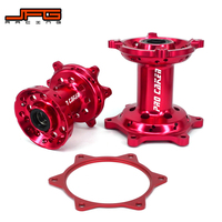 Motorcycle Billet Red CNC Front Rear Complete Wheel Hub With Spocket Spacer Raiser For HONDA CRF250R 2014 2016 CRF450R 2013 2016