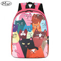 Funny Cat Printing Backpack College students Shoulder Bag Women And Men School Bags Laptop Backpack Rucksack Unisex 2017 New