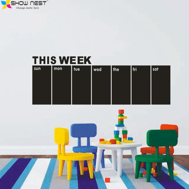 free shipping chalkboard wall decals weekly calendar this week