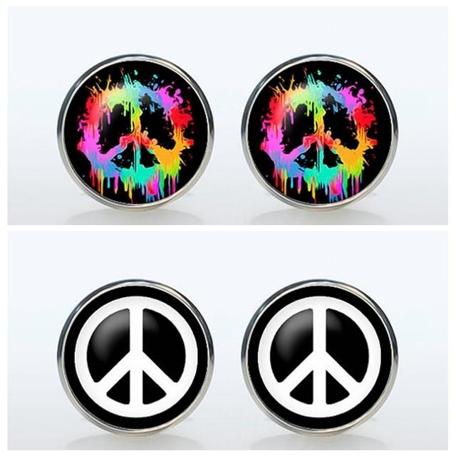Hipster Peace Sign Symbol Brand Cuff Mens Wedding Groom Sleeve