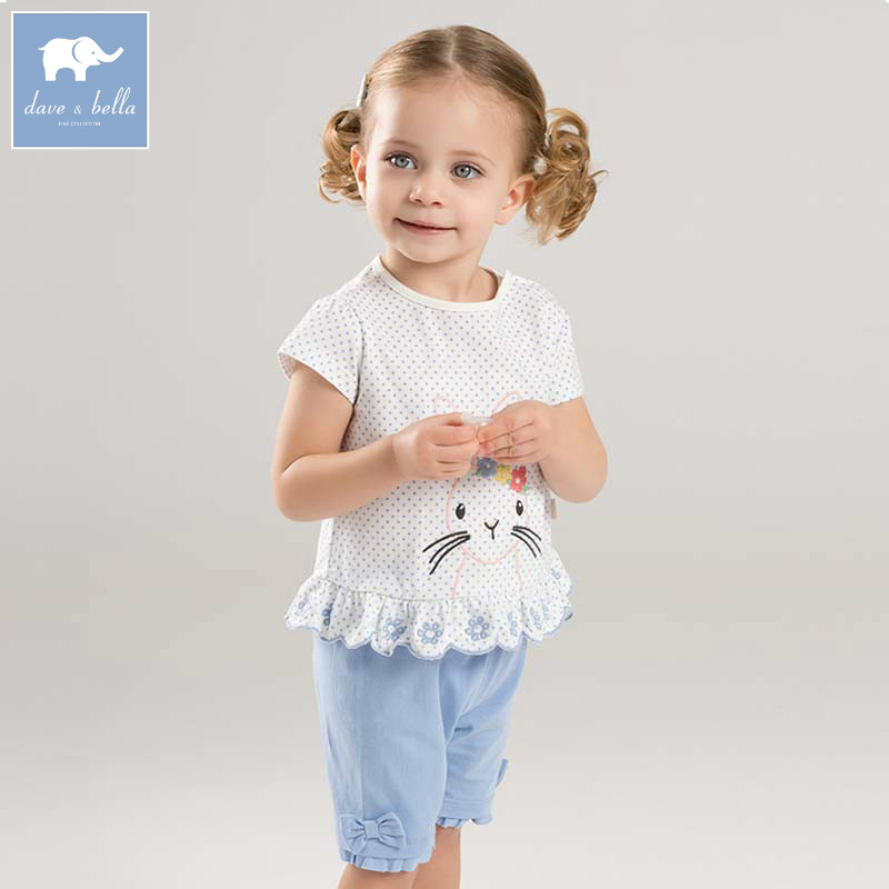 Dave bella toddler girls summer print clothing children high quality clothes baby lovely suit kids clothing sets DB7684 db4499 dave bella summer baby girls lovely clothing sets kids stylish clothing sets toddle cloth kids sets baby fancy clothes
