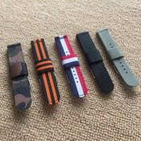 Haut de gamme Montre bracelet 18mm 20mm 22mm 24mm Belle couleur En Nylon toile Arbore Bracelet Étanche Épais Hommes et femmes bande Armée bretelles