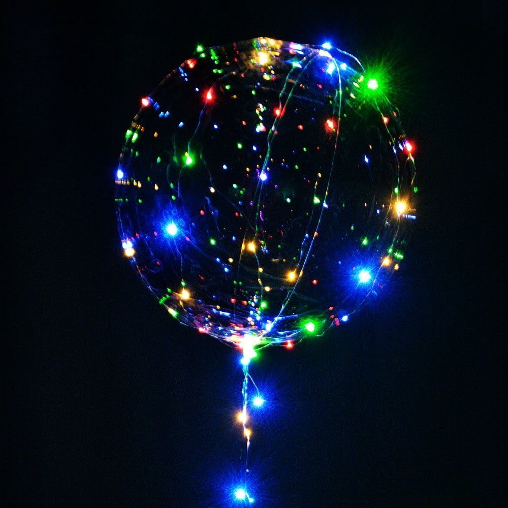 100pcs/lot  Balloon LED String Lights Round Bubble Helium Balloons Kids Wedding Decoration Holiday