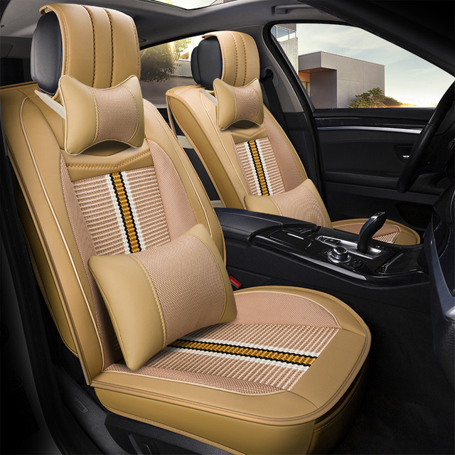 2018 New Style Leather Car Seat Cover For Peugeot 308 Nissan Subaru