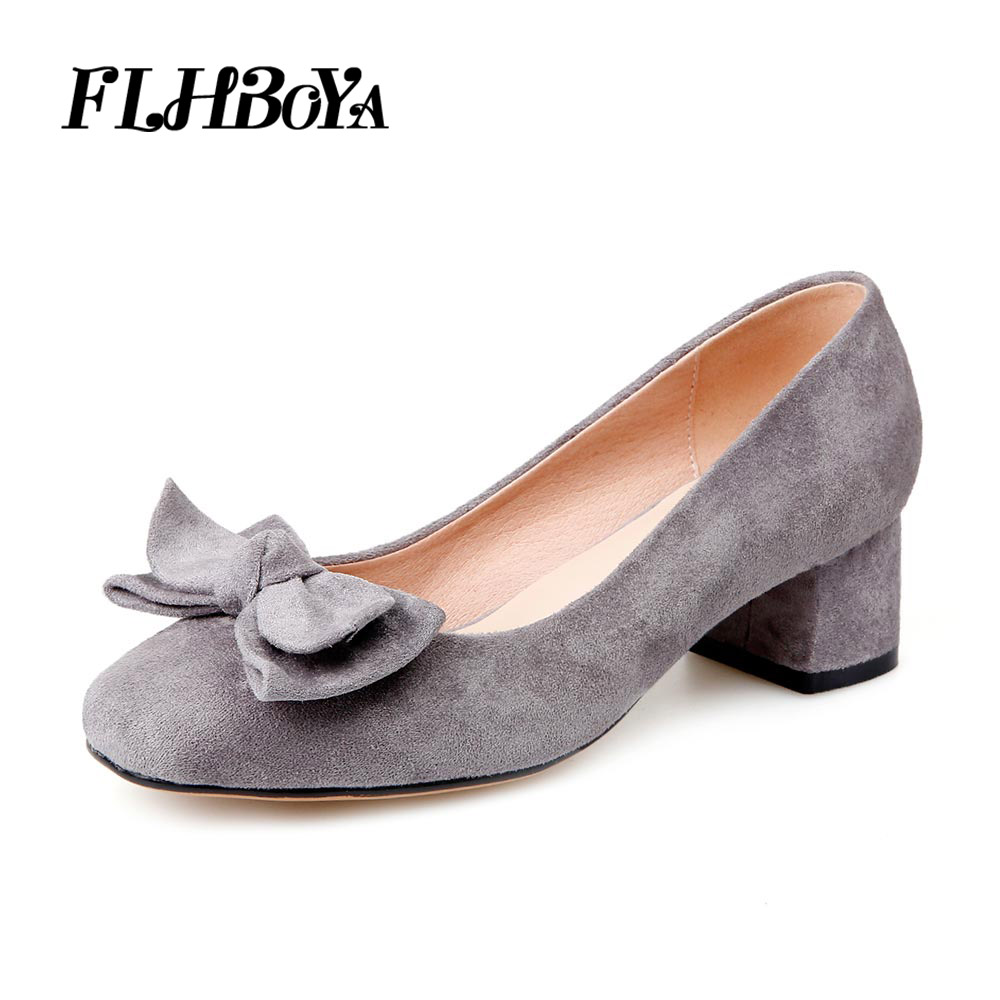 2018 New Round Toe Casual Women Block heel Mary Janes Pumps For Lady Thick Med High Heels Leisure Mother Driver Shoes Big Size new women s high heels pumps sexy bride party thick heel round toe genuine leather high heel shoes for office lady women t8802