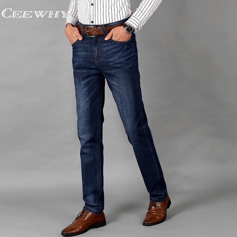 CEEWHY Mens Casual Jeans Exclusive Design Famous Casual Denim Jeans Men Straight Slim Middle Waist Men Jeans Vaqueros Hombre