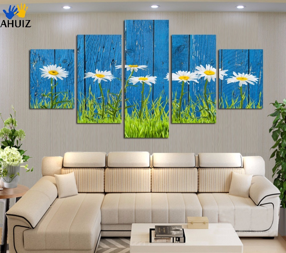 sunflower background drawing bedroom sitting canvas wall adornment shipping poster unframed pcs painting