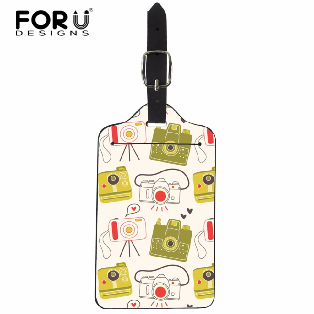 FORUDESIGNS 3D Camera Pattern Travel Luggage Tag Suitcase ID Address Holder Suitcase Boarding Tags Portable Label Custom Logo