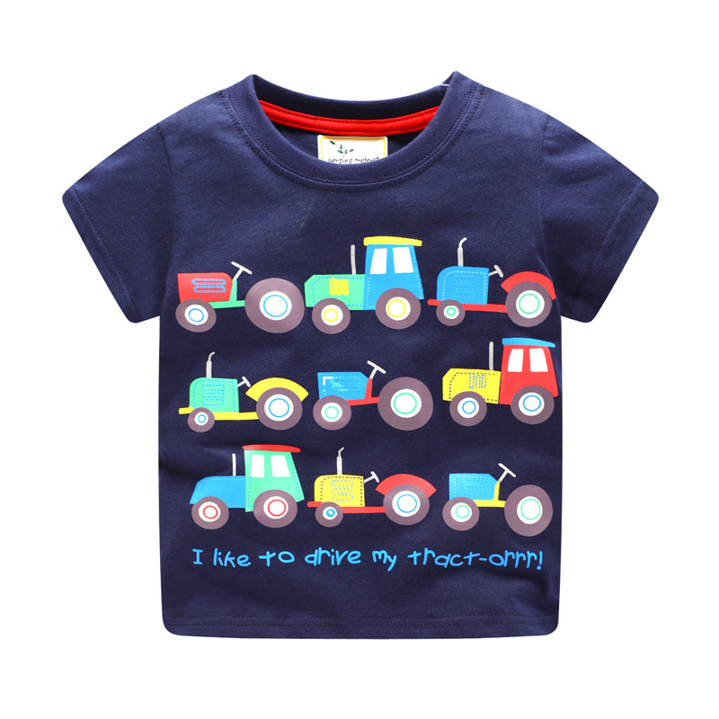 jumping meters new baby boys short sleeves summer t shirts kids cute cartoon t shirt with printed some cars hot selling 2018