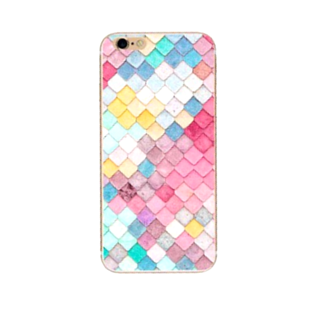 Pattern Case for iPhone 6 Transparent Clear Soft TPU Cover Thin Shining Phone Shell