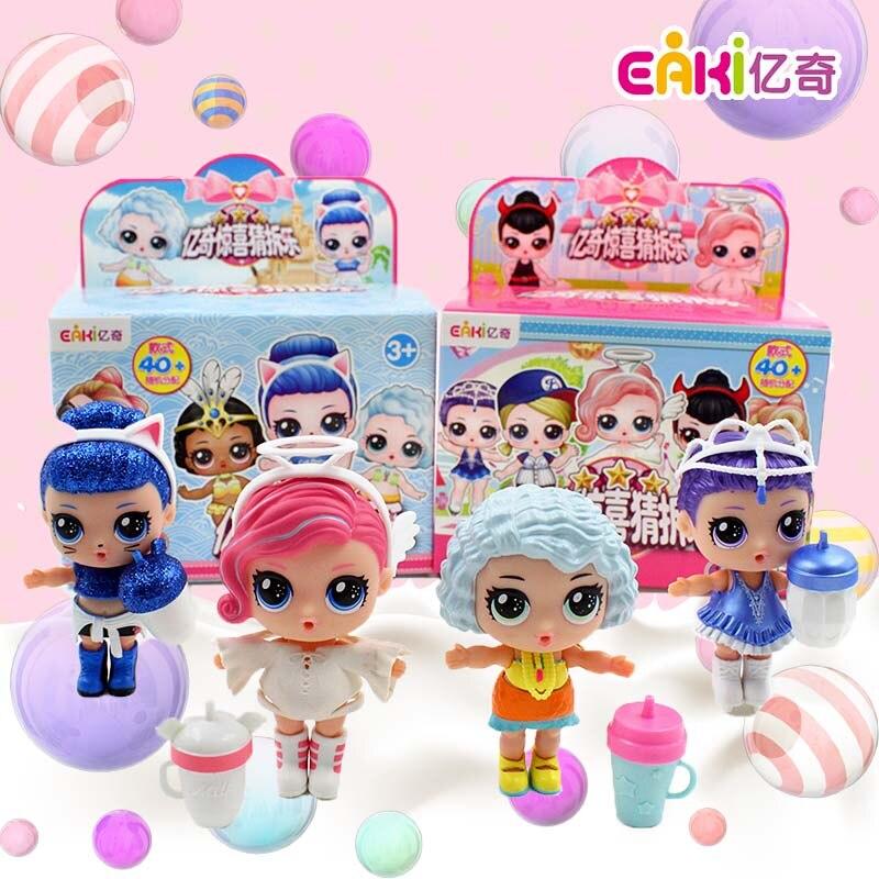 12 ensemble/lot Original EAKI LOL poupée Surprise oeuf Poupee LoL animaux boule Surprise cadeau boîte fille robe chaussures bricolage fête d'anniversaire jouets