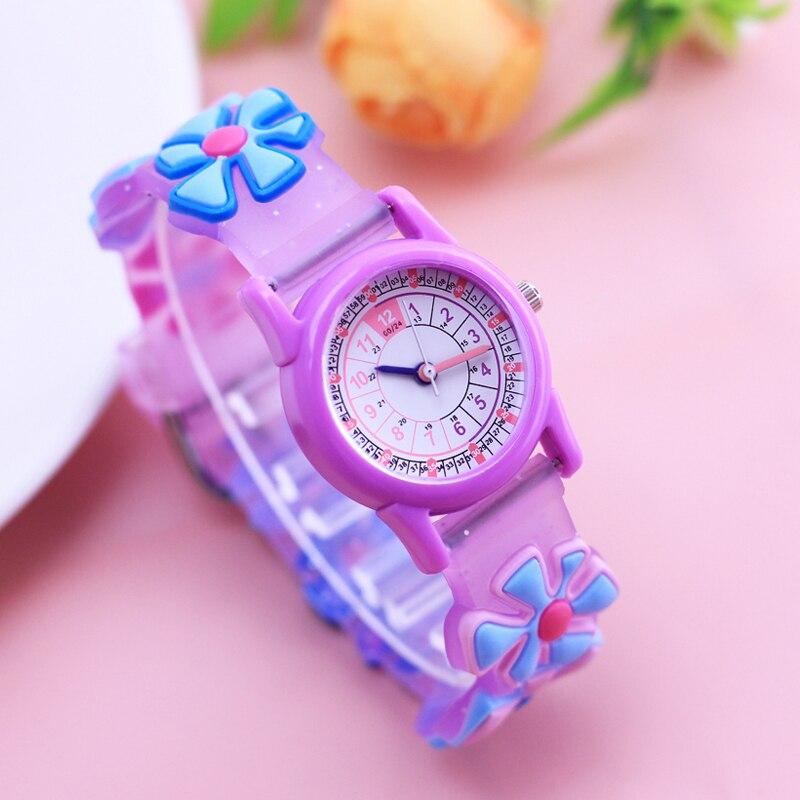 Willis Famous Brand Children Girls 3D Lovely Cute Sunflower Quartz Wristwatches Students 24 Hours Gifts Watches Montre Enfant