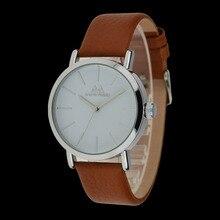 Simple tendencia de cuero genuino reloj de las mujeres vestido relojes horas reloj de los hombres de moda casual watch unisex reloj de cuarzo relojes relogio