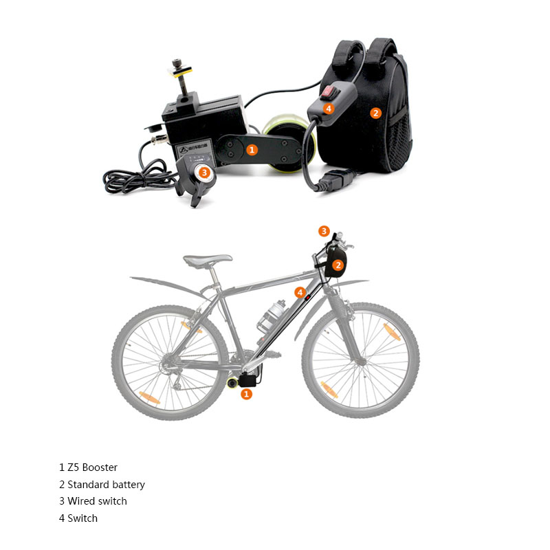 Bicycle Electric Bike 48V 300W Mid Drive Motor Conversion kit Mid-Drive Motor with Battery for mtb/mountain eBike Display Combo