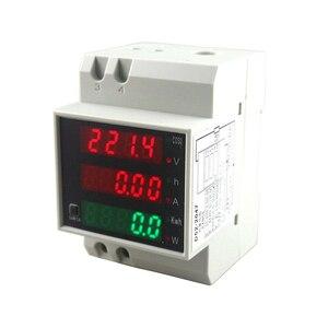 Din-рейка переменного тока 80-300 В переменного тока 250-450 в 0-100.0A амперметр вольтметр Вольт Ампер метр светодиодный дисплей мощность время энерг...