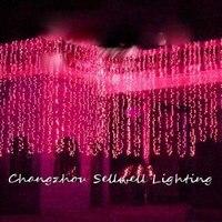 נהדר! חג אור מלון חתונה חגיגת קישוט 3*6m אדום LED מנורת H276