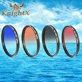 KnightX Цвет окончил Фильтр Объектива 52 мм 58 мм 67 Для Nikon D3200 D3100 D3200 D5100 D5200 D5300 D7100 D7200 линзы d90 6D камеры