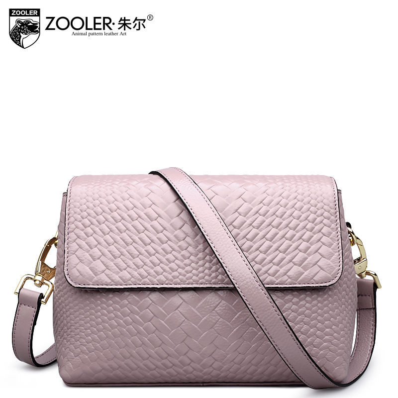 ZOOLER Brand Genuine Leather Shoulder Bags For Women Casual Messenger Bag Ladies Small Cowhide Leather Crossbody Bags Sac A Main zooler crossbody bags for women new ladies messenger bag crocodile genuine leather small shoulder bag sac a main femme de marque