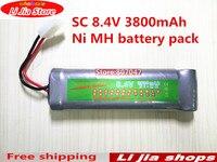1pcs 8 4v Rechargeable Battery Pack 3800mah SC Ni Mh NiMH Bateria Sc Recargable Rc Battery