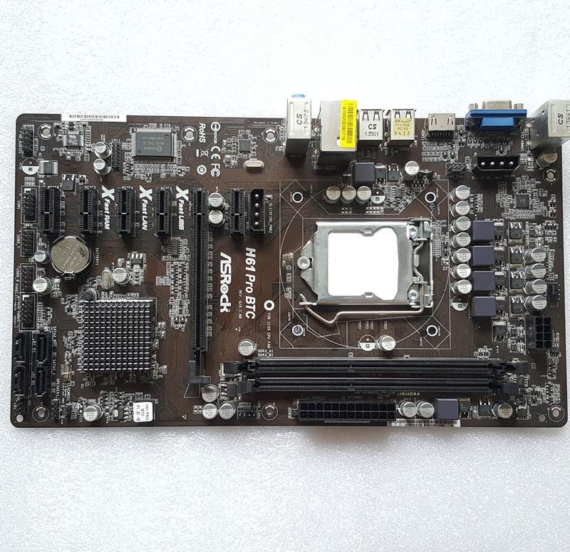 Mainboard Bundle ASRock H61 Pro BTC / Core i5 2500 4x 3,30 GHz / 8GB DDR3 RAM