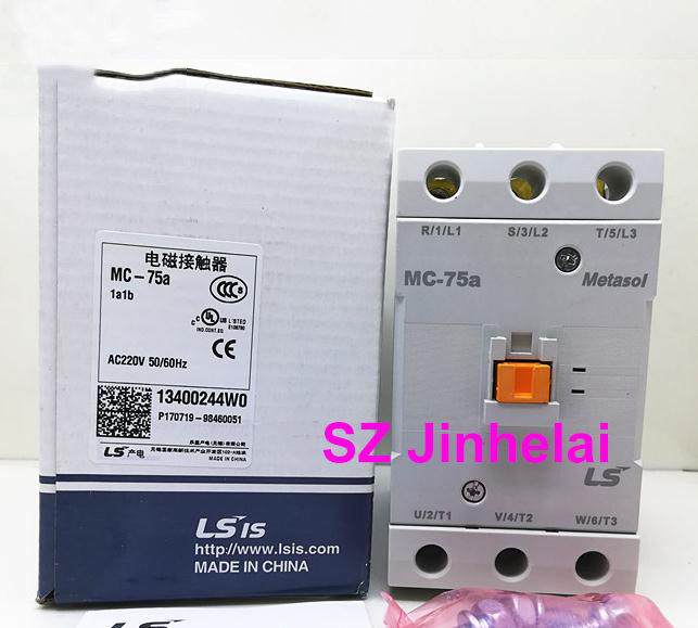 цена на Authentic original MC-75a LS Electromagnetic contactor 1a1b (Can replace GMC-75) AC220V/AC110V/AC24V/AC380V
