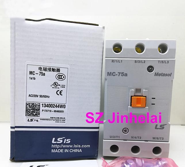 Authentic original MC-75a LS Electromagnetic contactor 1a1b (Can replace GMC-75) AC220V/AC110V/AC24V/AC380V [zob] the original original a63 30 ac24v ac contactor 125a to ensure genuine