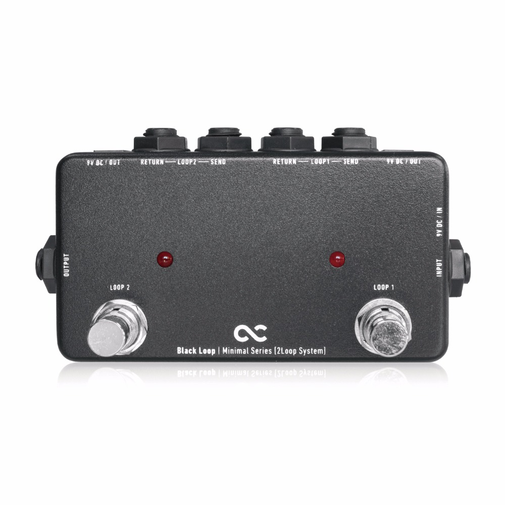 Japan One Control BLACK LOOP Guitar Effect Pedal Loop Controller Pedal Switcher free shipping phrase loop core loop pedal block effect drum machine circular pedal