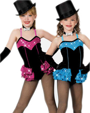 Child costume female child ballet dance dress Latin clothes