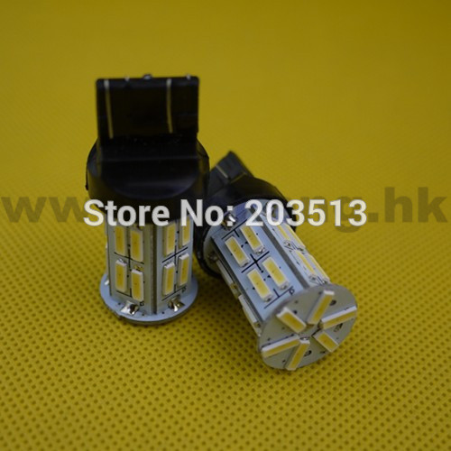 10pcs/lot wholesale Auto car led lighting WY21W W21/5W t20 26 smd 7443 26 leds 7014SMD white bulb Free shipping