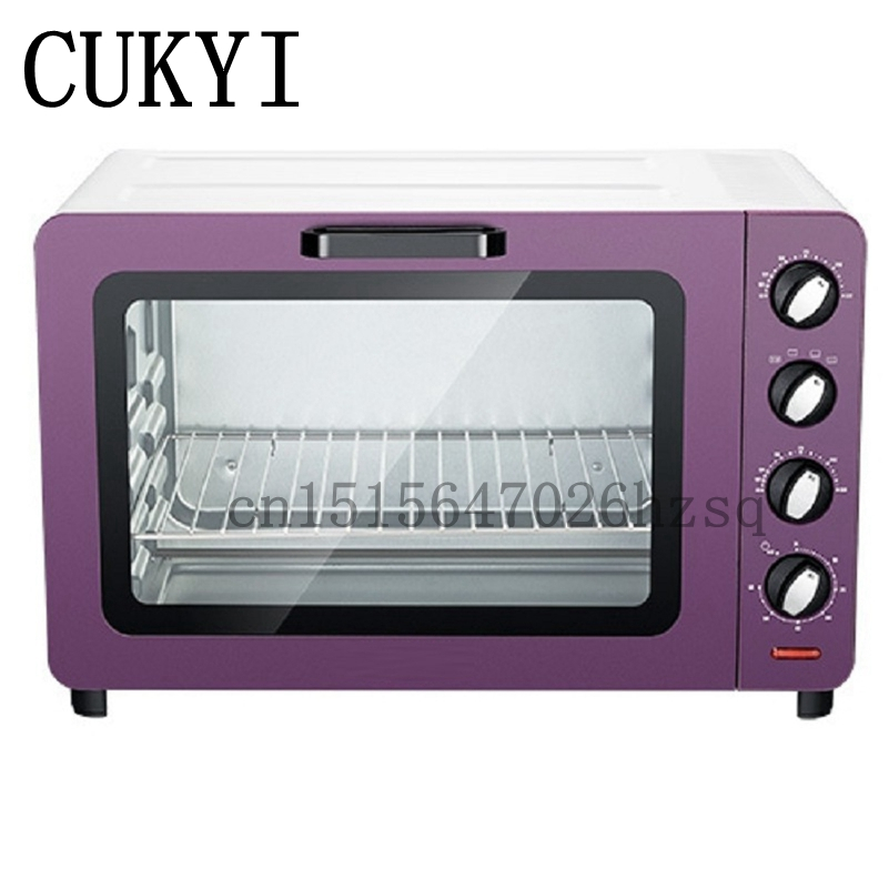 CUKYI Mini Household Ovens 15L Capacity Multi-functional baking machine electric oven Baking Timer 60min cukyi household electric multi function cooker 220v stainless steel colorful stew cook steam machine 5 in 1